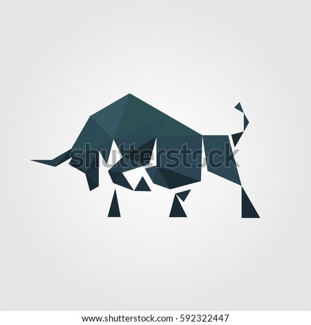 polygonal creative media bull