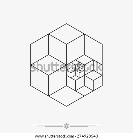 polygonal cube shapes  3d