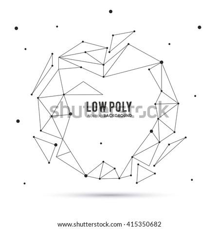 Polygonal design. Geometric shape design. , vector illustration
