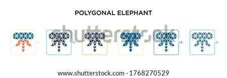 polygonal elephant vector icon