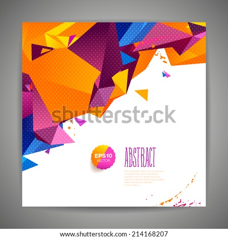 Polygonal geometric background for modern design