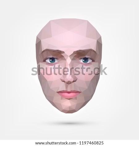 polygonal human face  origami