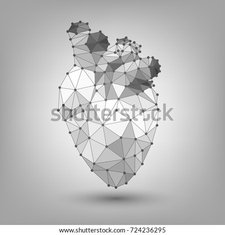 Polygonal human heart, structure Stock photo ©