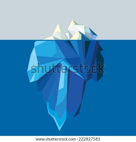 polygonal iceberg glacier