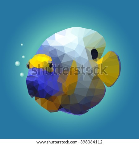 polygonal illustration of a