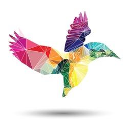 Polygonal illustration of Bird.
