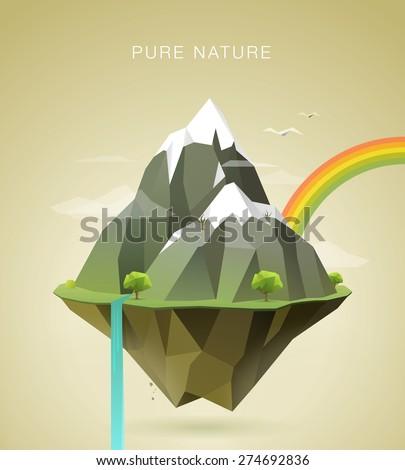 polygonal illustration of