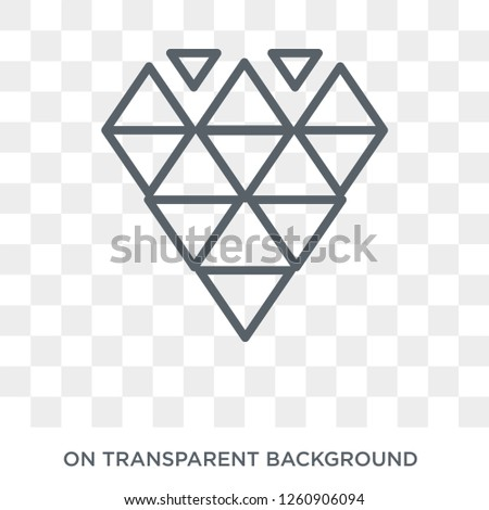 9d20f23d2 Polygonal jewel icon. Polygonal jewel design concept from Geometry  collection. Simple element vector illustration