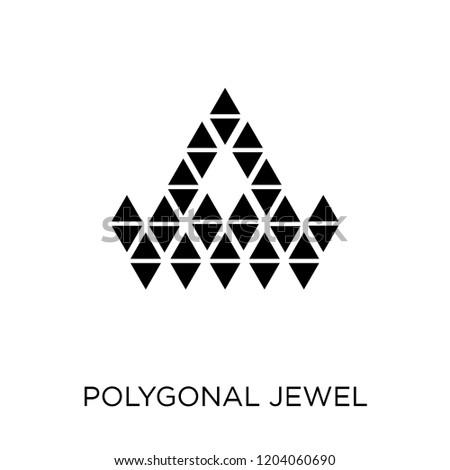 c5b070bc3 Polygonal jewel icon. Polygonal jewel symbol design from Geometry  collection. Simple element vector illustration