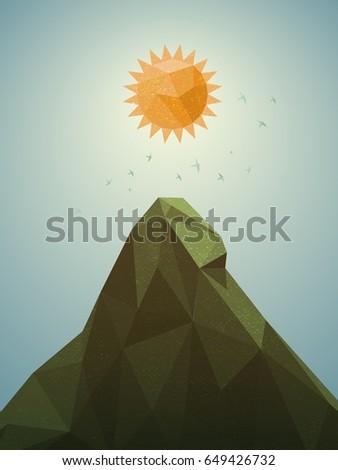 polygonal landscape illustration