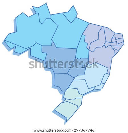 Polygonal map of Brazil