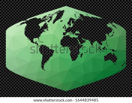 polygonal map of the world on