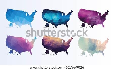 Polygonal map of Usa