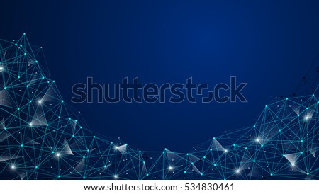 polygonal networking technology concept background