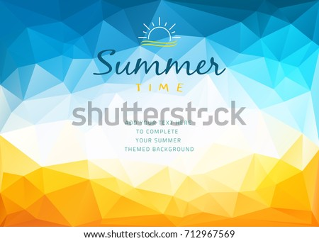 polygonal shapes summer time...