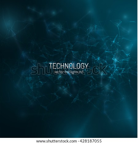 polygonal technology background