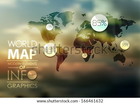 polygonal transparent  world...