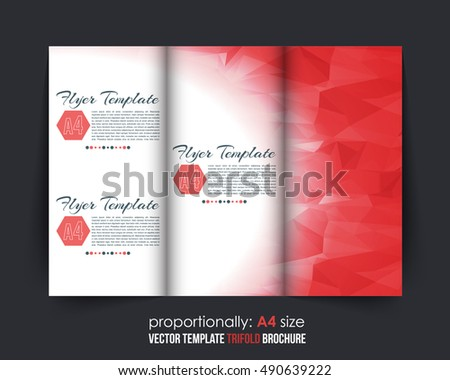 Trifold Polygonal Shapes Brochure Design Download Free Vector Art