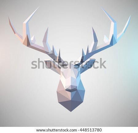 polygonal vector low poly deer