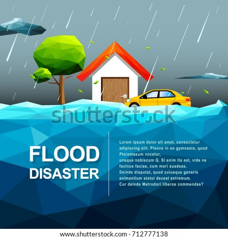 polygonal water flood disaster