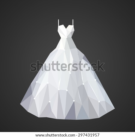 polygonal wedding dress