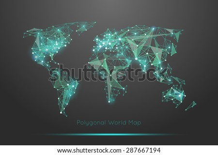 polygonal world map global