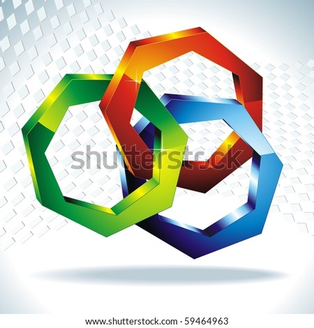 polygons 3d. Geometric shapes. Vector