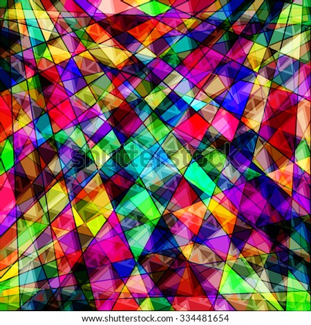 polygons psychedelic bright
