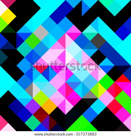 polygons psychedelic colored
