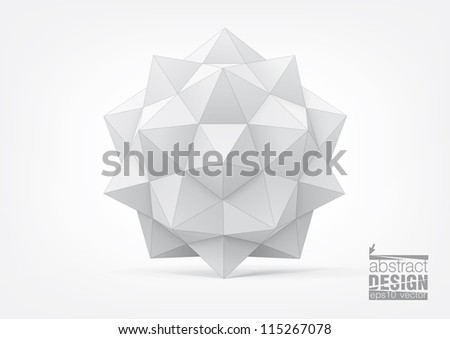 Polyhedron. You can change colors, eps10 vector - stock vector
