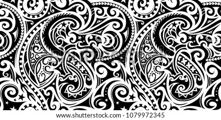 Polynesian ethnic pattern. Can be used as tattoo or seamless ornament