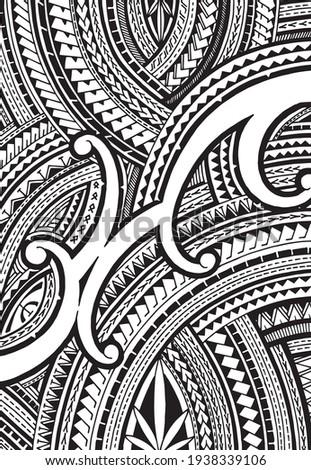 Polynesian ornament tattoo desing vector