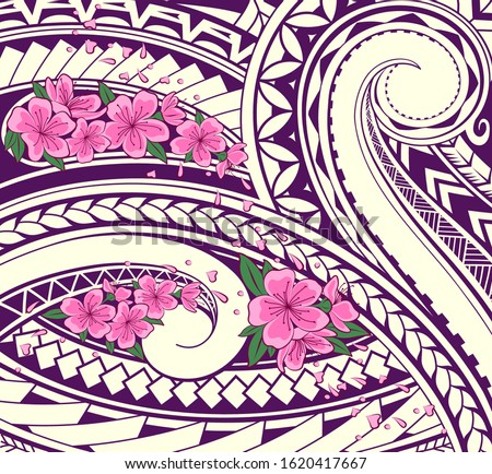 polynesian ornamental theme