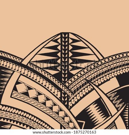 Polynesian ornaments tattoo design vector