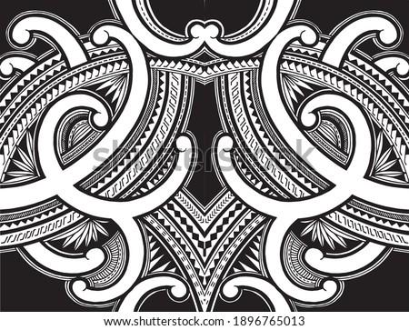 Polynesian samoa ornament tattoo desing vector