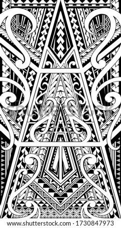 Polynesian style ornament. Can be used as tattoo or print design