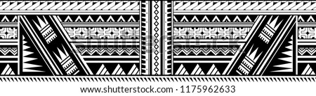 Polynesian style ornament shaped as sleeve pattern or armband