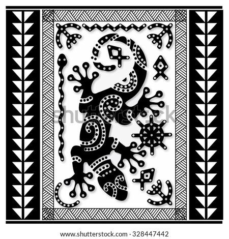 polynesian tattoo art sacred geometry lizard on maori pattern background snake fish sun and. Black Bedroom Furniture Sets. Home Design Ideas