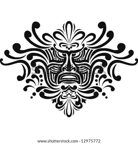 stock vector : Polynesian tattoo design