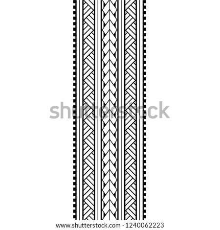 polynesian tattoo pattern maori, samoa ornament border, ethic tribal template