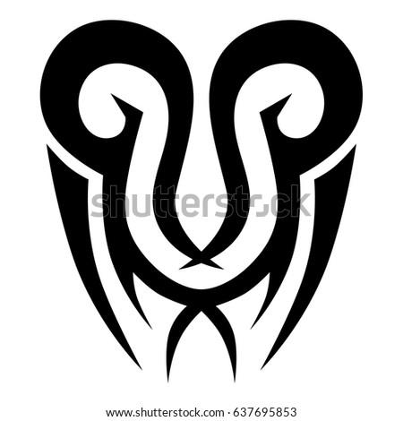 Polynesian tattoo pattern, maori style,