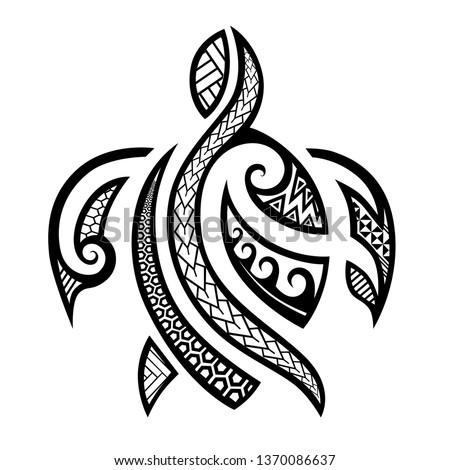 polynesian tattoo turtle pattern, Tortuga samoan sketch arm and foot design, maori stencil tattoo tribal