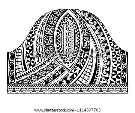Polynesian traditional half sleeve tattoo shape