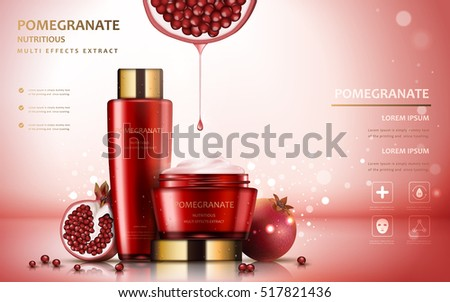 pomegranate cream ads