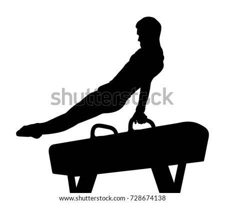 stock-vector-pomme-horse-male-gymnast-in-gymnastics-black-silhouette