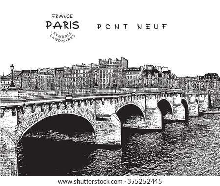 pont neuf   famous bridge in