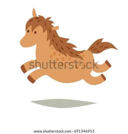 pony vector icons  isolated on