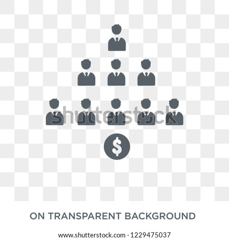 Ponzi scheme icon. Trendy flat vector Ponzi scheme icon on transparent background from business   collection. High quality filled Ponzi scheme symbol use for web and mobile