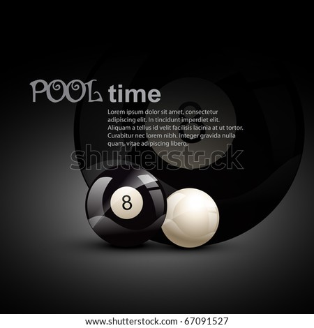 pool ball theme design illustration