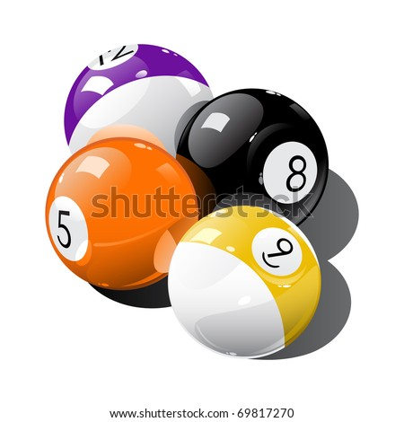 Pool balls - stock vector